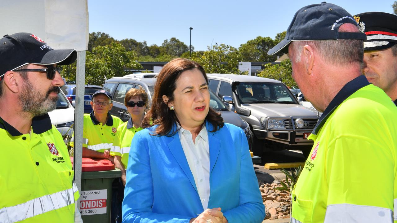 Queensland Premier Annastacia Palaszczuk visits Peregian Beach to pay tribute to the colossal effort and courage shown by firefighters during the horrendous fires. Photo: John McCutcheon