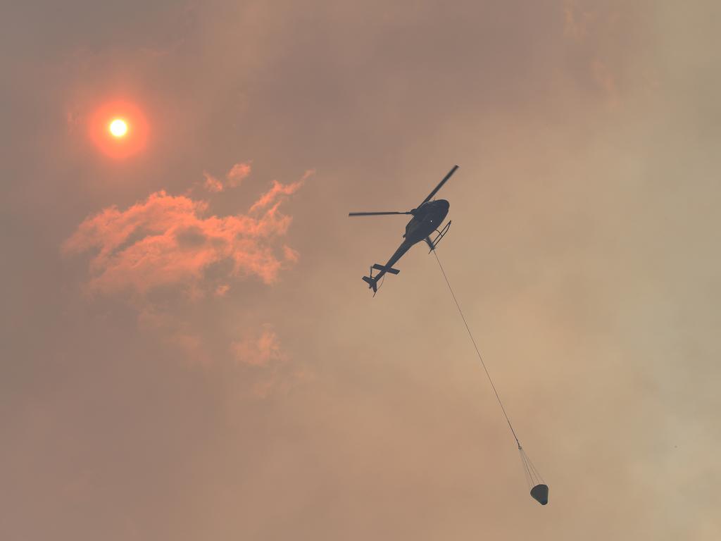 Fire bomber over Frenchville.