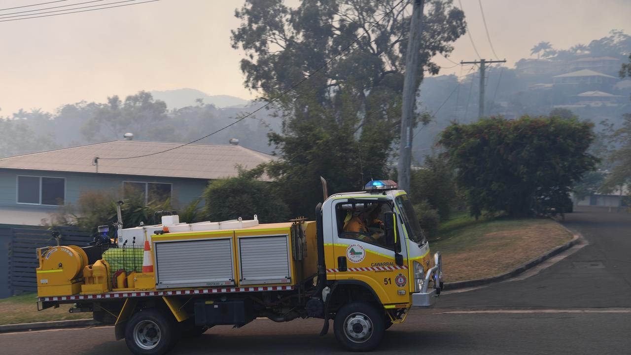 Rural Fire Brigade trucks deployed in Frenchville.