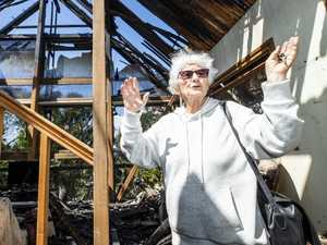 Widow, 89, returns to fire-ravaged home