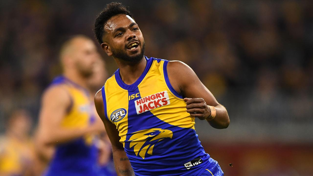 Rioli will miss West Coast's do-or-die clash with Geelong. Picture: Getty