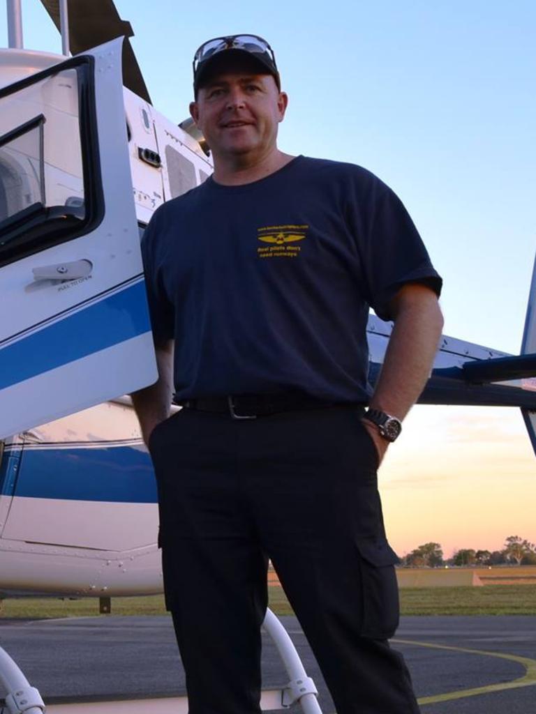 Queensland helicopter pilot David Kerr is believed dead.