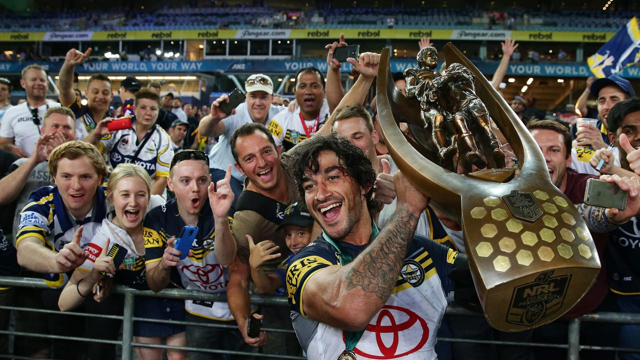 The all-Queensland grand final between Johnathan Thurston's Cowboys and the Broncos at Sydney's ANZ Stadium in 2015 was a ripper. Picture: Brett Costello