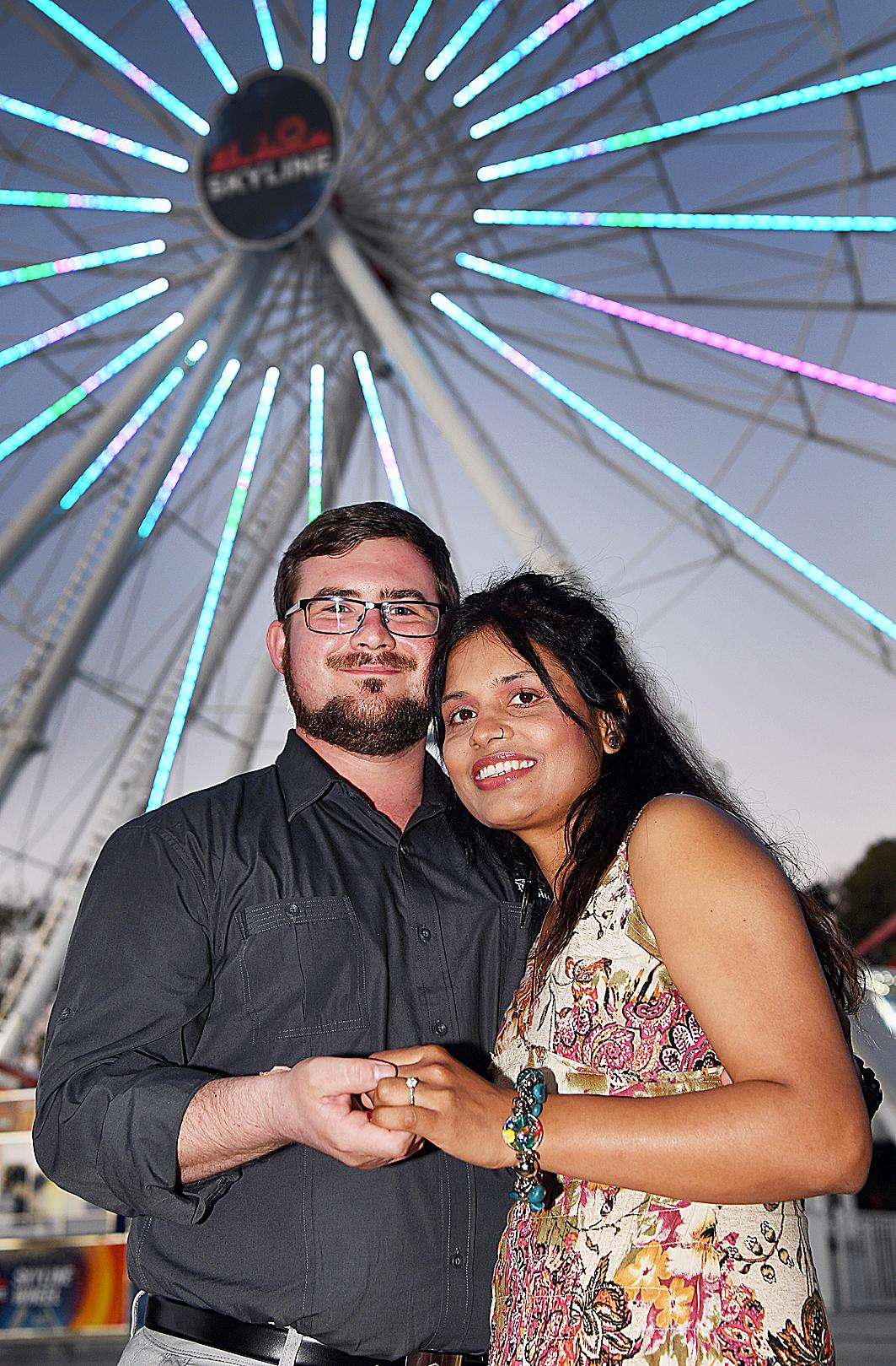 Ferris wheel proposal - Jared Crooks and Pip Depp.