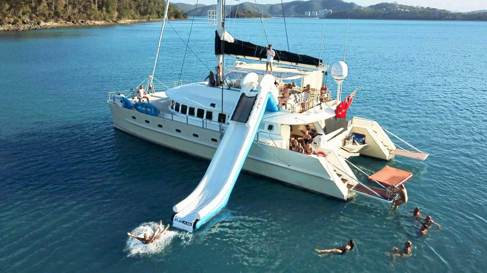 The owner of a luxury catamaran took the Sunshine Coast builders to court over damaged paintwork.