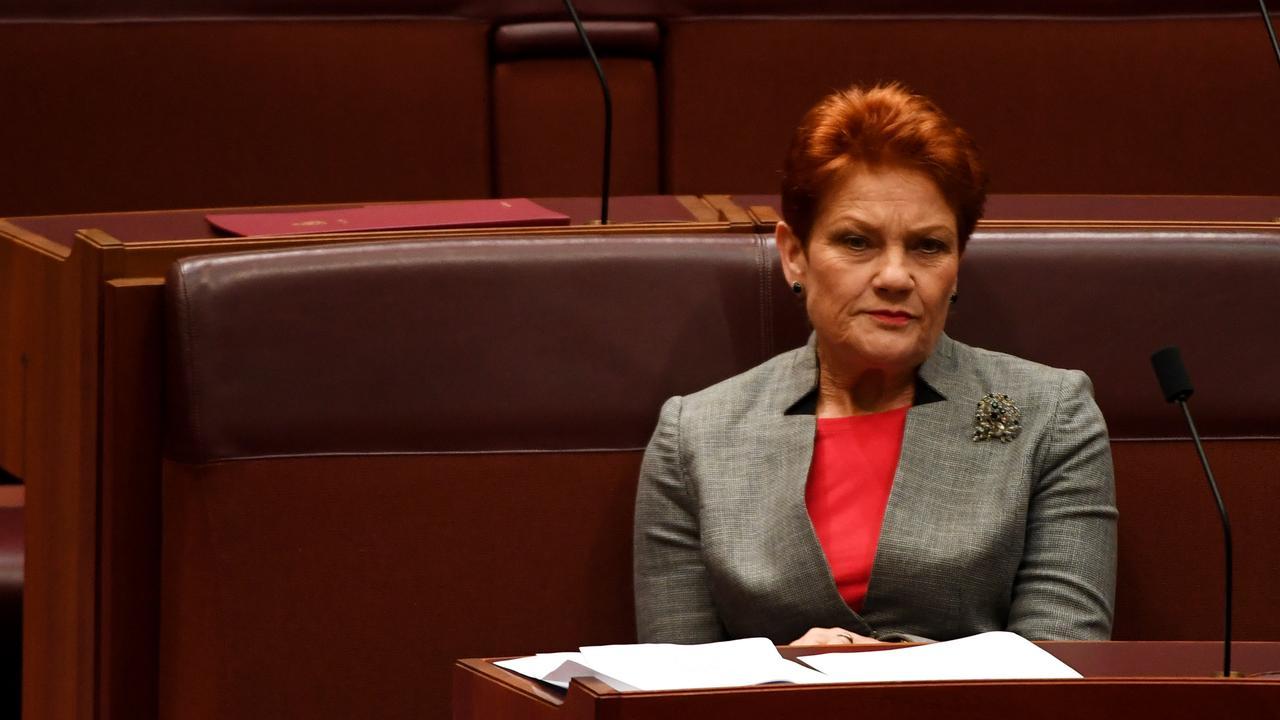 "Senator Pauline Hanson said farm invaders were ""killing animals"". Picture: Tracey Nearmy/Getty Images"