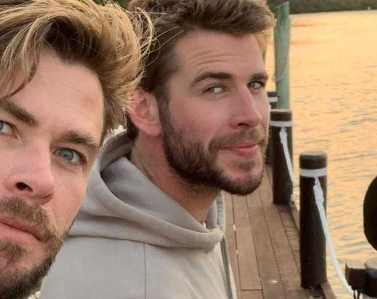 Chris and Liam Hemsworth enjoy some quality time together.