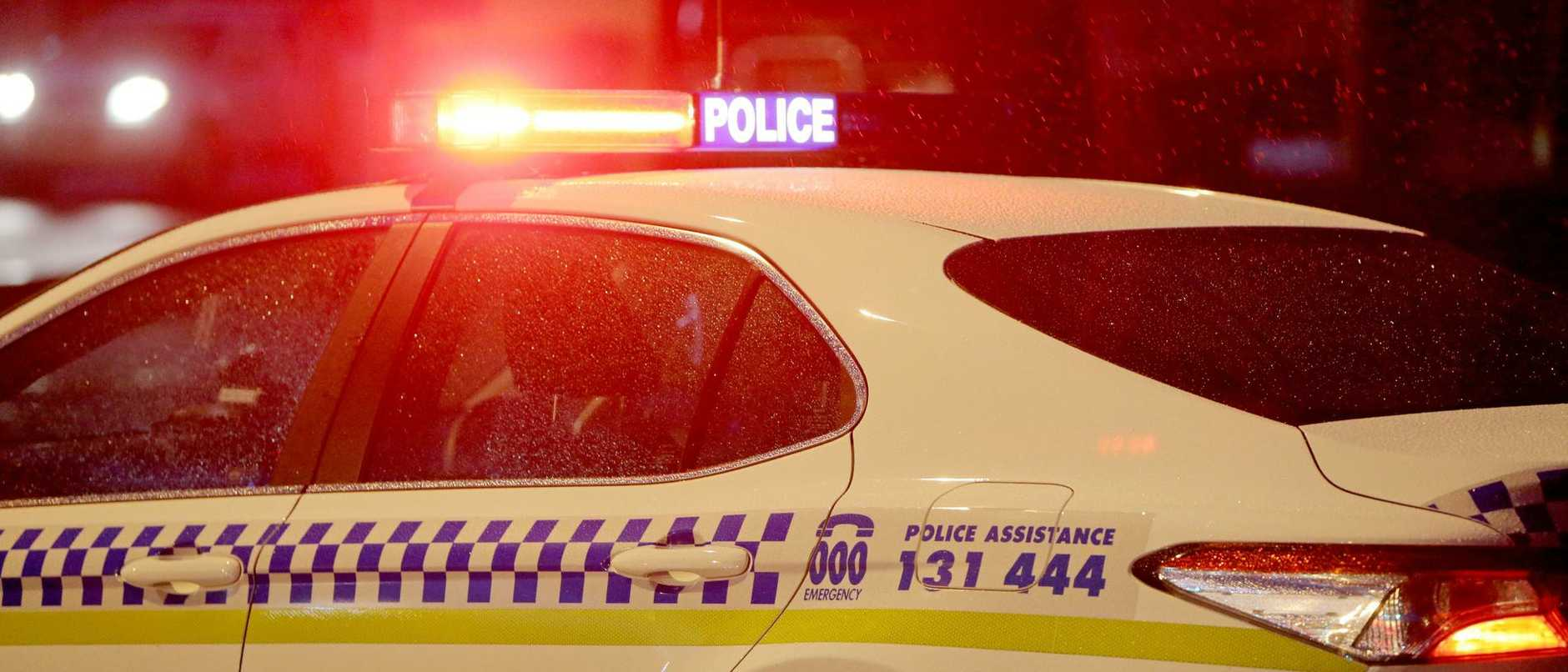 A man has been arrested after allegedly ramming a police car.