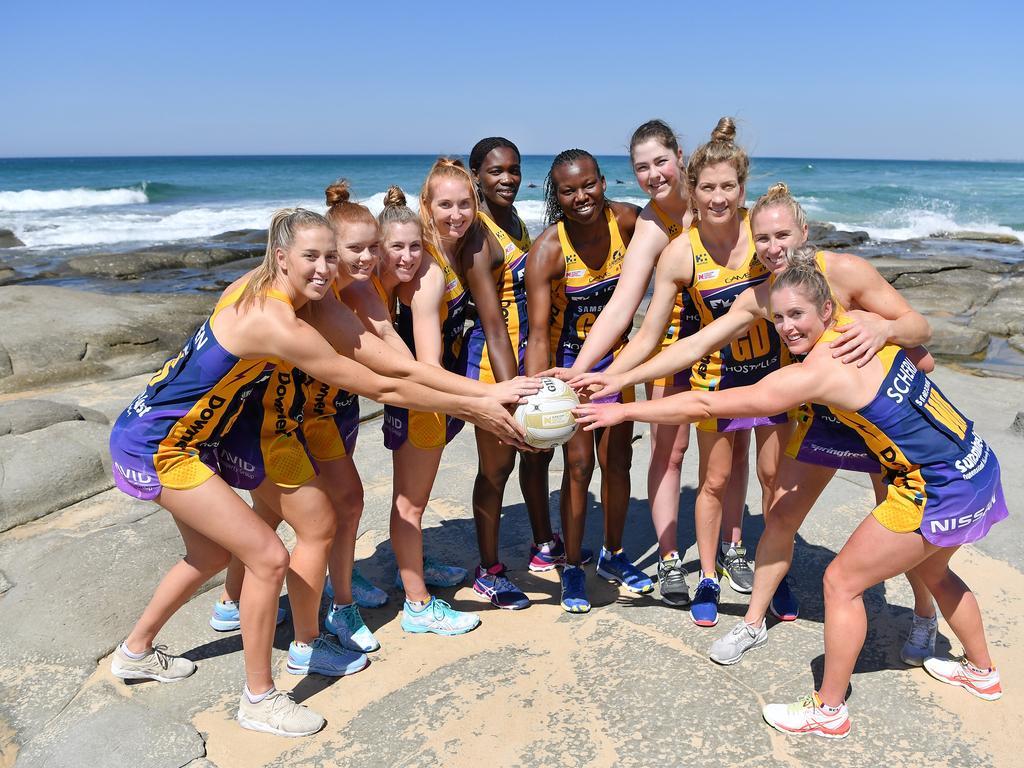 NETBALL: Lightning promo photos at Point Cartwright. Photo Patrick Woods / Sunshine Coast Daily.