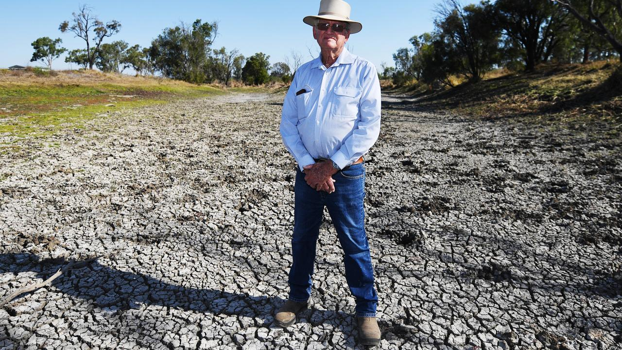 DROUGHT: Ian Lovegrove on his Gracemere property experiencing the worst drought in 41 years.