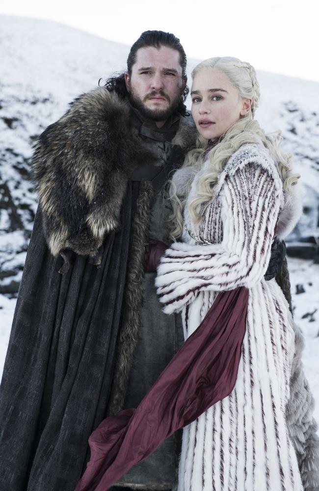 Jon Snow and Daenerys Targaryen. Picture: HBO/Foxtel