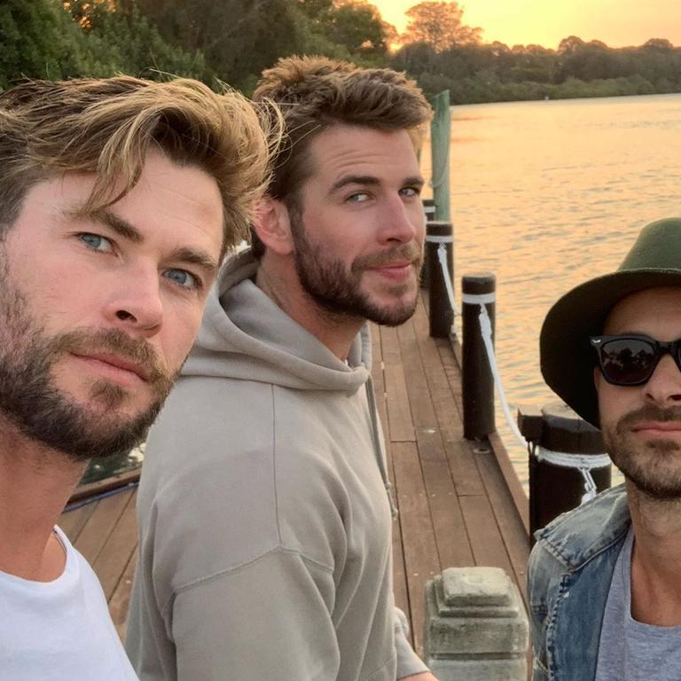 Chris (left) and Liam Hemsworth enjoy some quality time together.