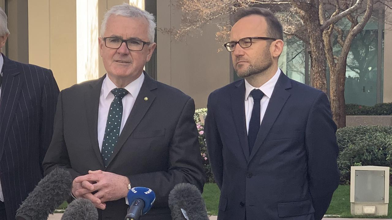 Andrew Wilkie and Adam Bandt have opposed the bill. Picture: Supplied