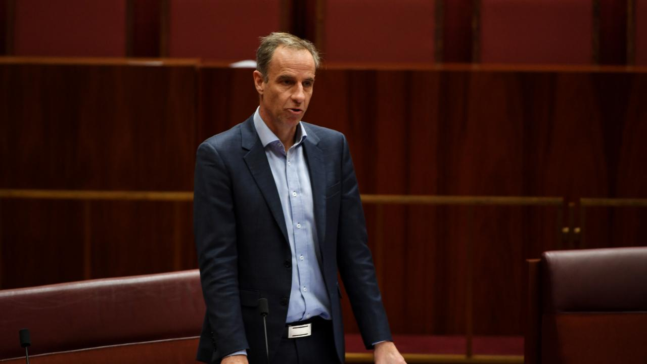 Senator Nick McKim in the Senate at Parliament House. Picture: Tracey Nearmy/Getty Images