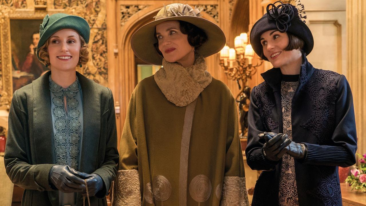 Joanne Froggatt, Elizabeth McGovern and Michelle Dockery in the Downton Abbey movie.