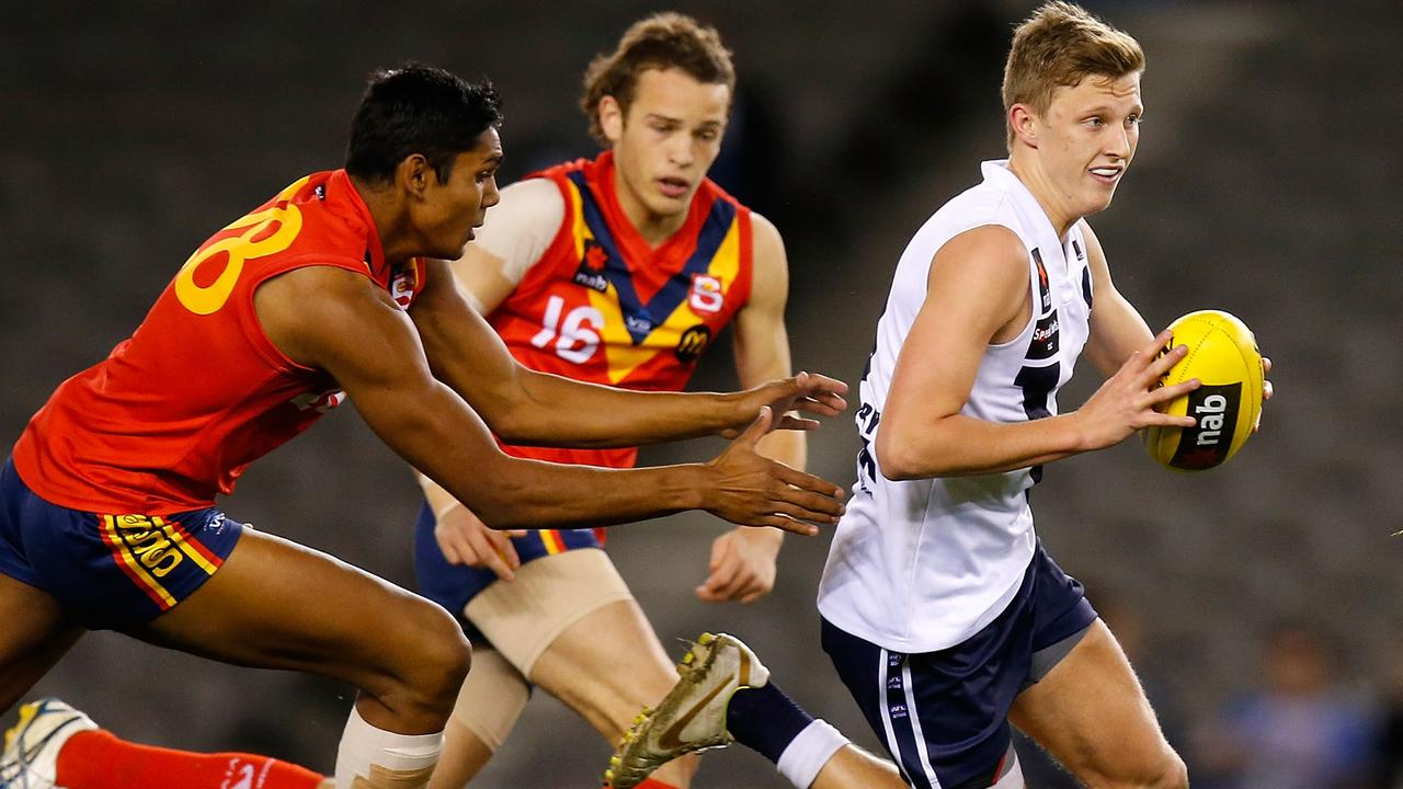 Lachie Whitfield in action for Vic Country during the 2012 under 18 championships. Pic: AFL Media