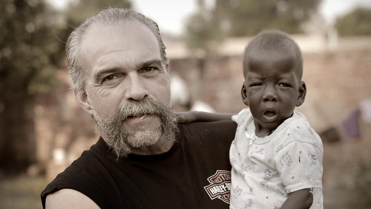 Sam and Augustine in Gulu, Northern Uganda, 2013.