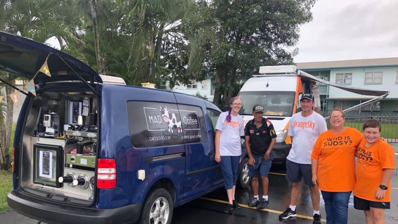 The Mad Cow Coffee van crew with Sonya Oliver Scoble. Picture: Facebook