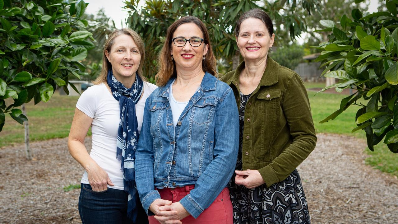 Julia Walker, Cathy Collins and Alison Courtice are members of Queensland Parents for Secular Schools which is campaigning for a review of religious instruction in schools.