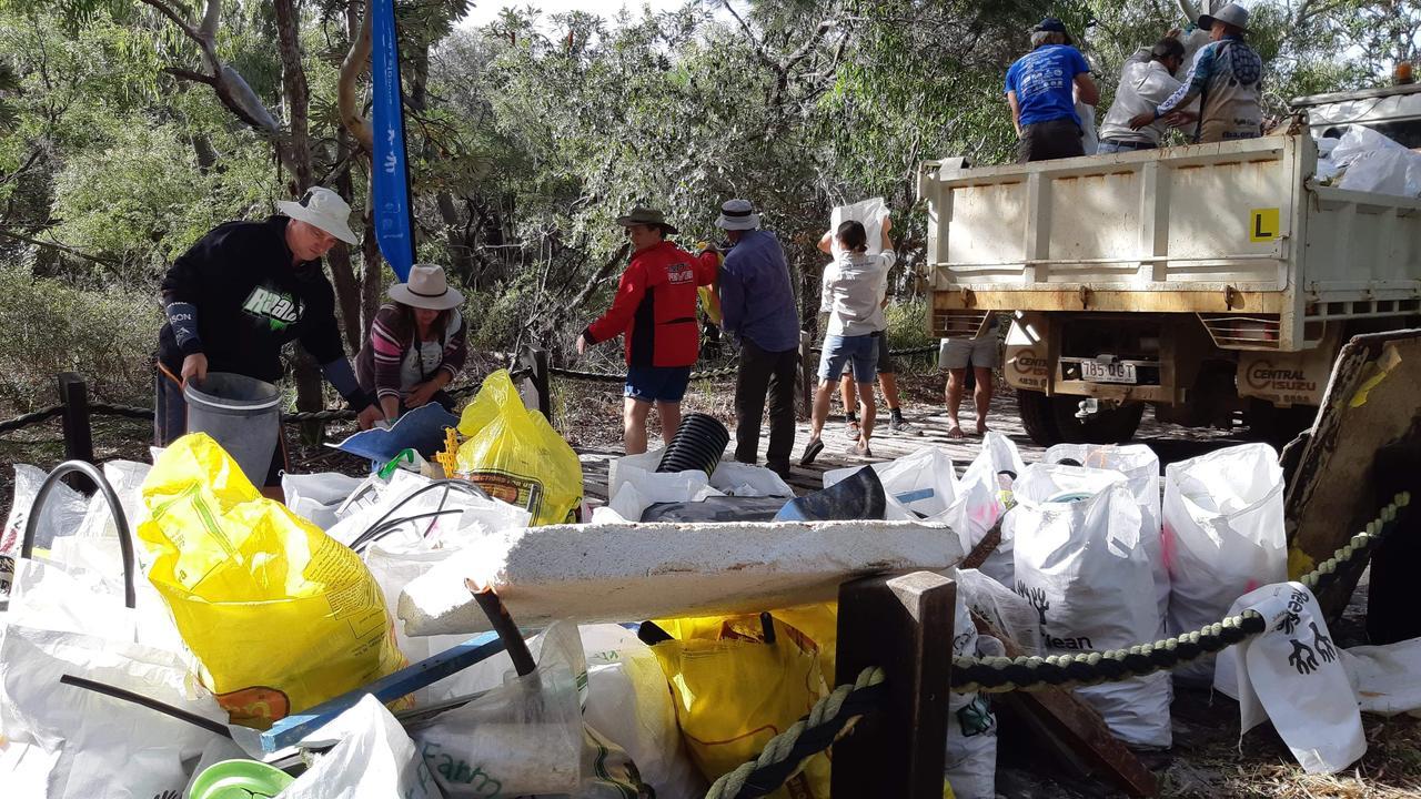 Volunteers needed trucks to take the haul of rubbish away