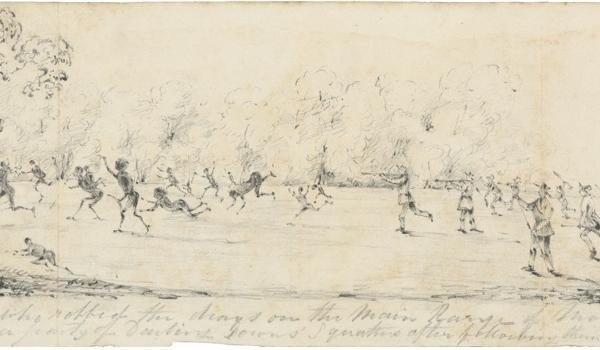 HISTORIC: An artist impression of the Battle of One Tree Hill, where Multuggerah was the leader of the Aboriginal forces.