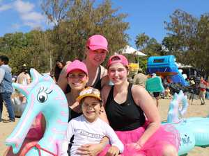 RACE READY: Hundreds gather for inflatable fun
