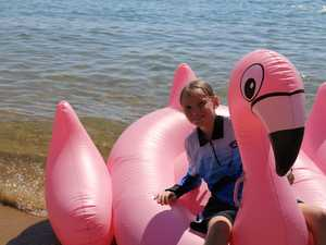Hundreds gather for inflatable fun