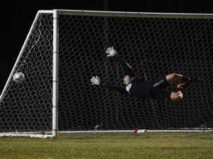 Soccer: Cap Coast's GK Gerard Kelly.