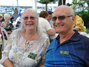 Cathe and Rod Akrigg at Waterline Restaurant for U3A