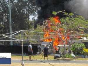 'Scary' blaze threatens Coast holiday park