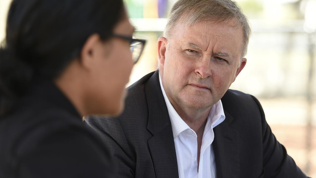 The Labor leader has steered clear of unnecessary conflict, choosing to visit and reassure ALP voters in person around the country. Picture: Albert Perez/AAP