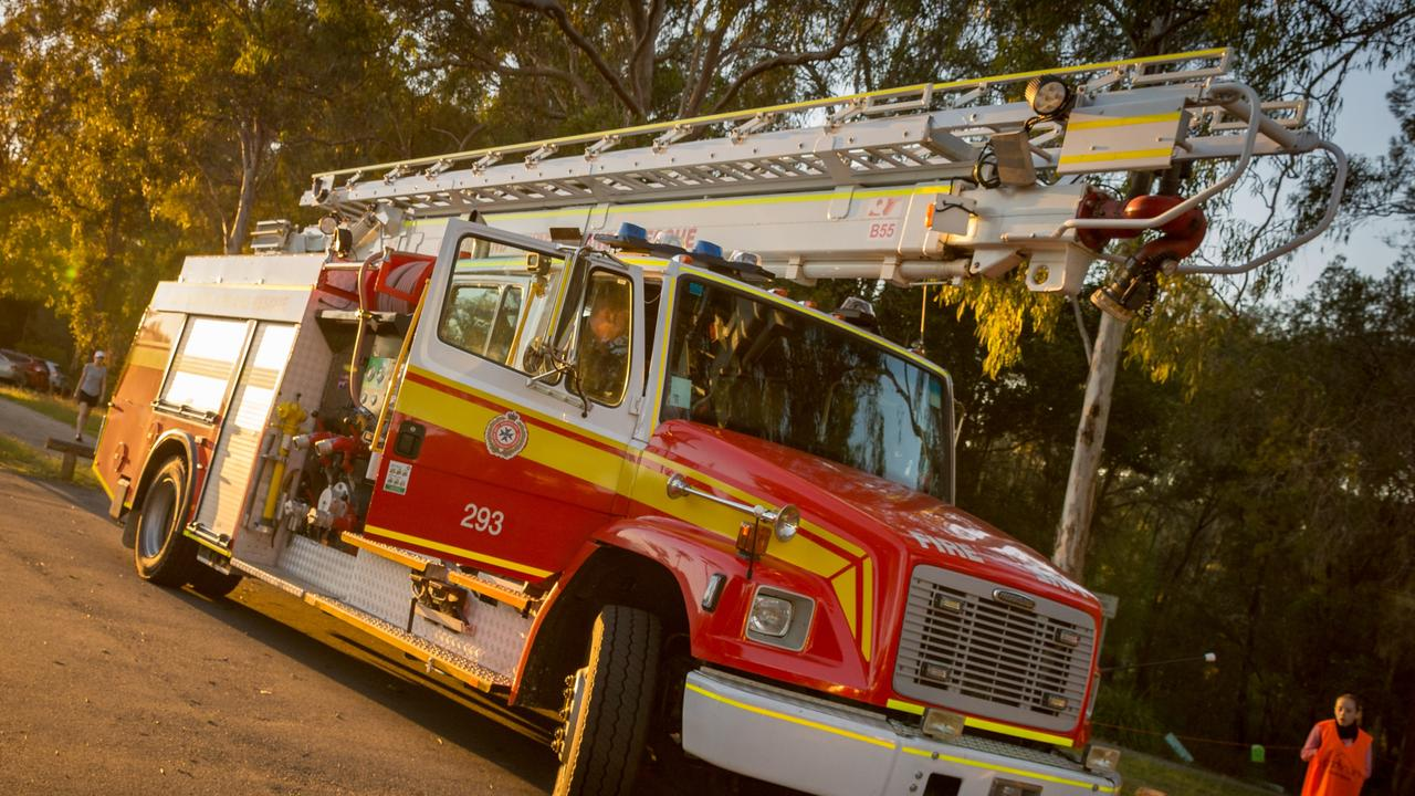 QFES crews are on site at a bushfire at Seaforth.