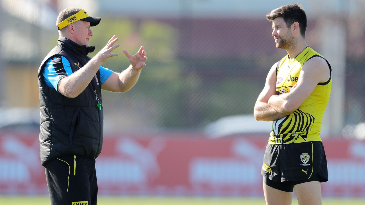 The Richmond skipper was lost in 2017 before he embraced his imperfections. Picture Michael Klein.