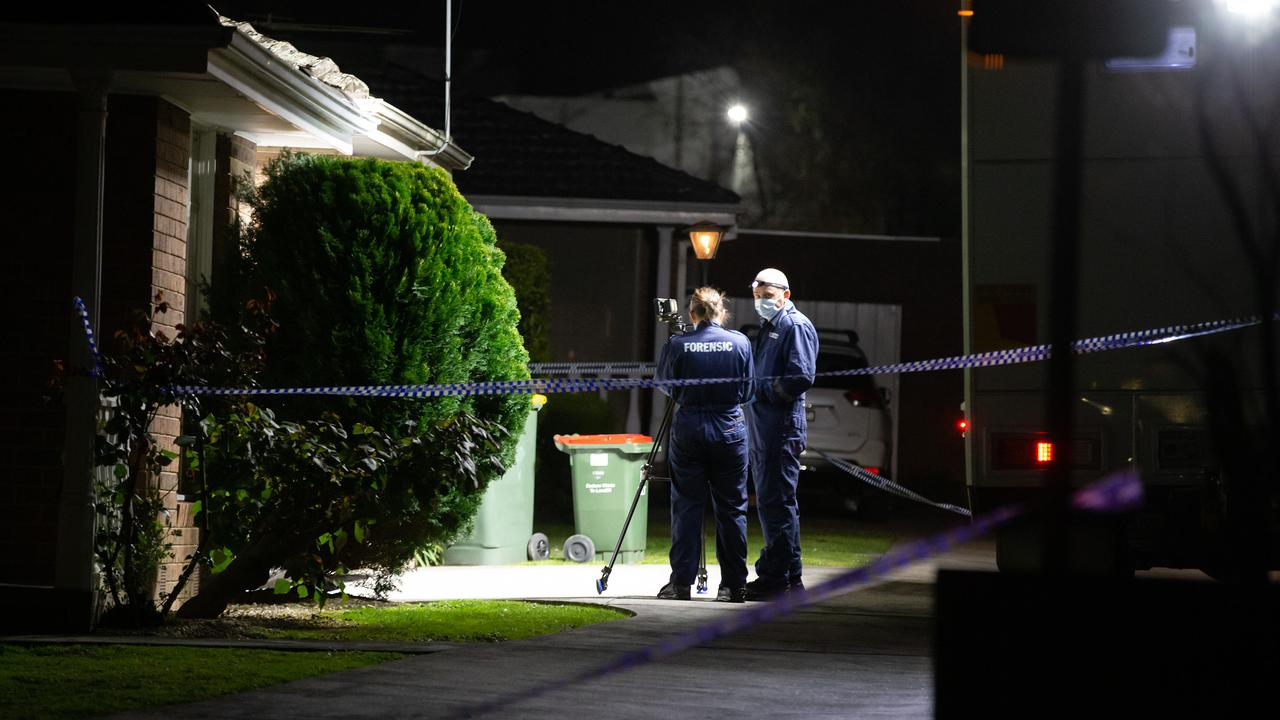 A man and a woman have died in Nunawading, while a child also found in the car was unharmed. Picture: Sarah Matray
