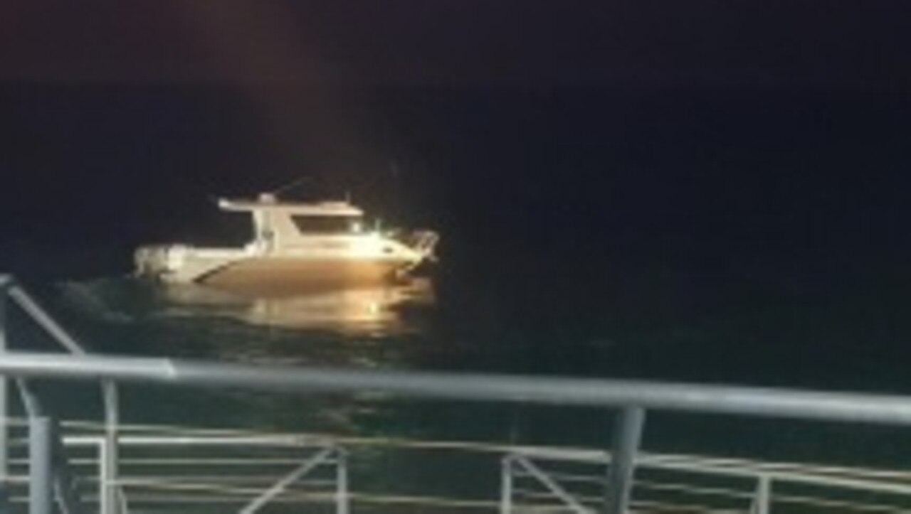 Officers from the Yeppoon Water Police have provided images of a boat involved in a fatal marine incident which claimed the lives of two men near the mouth of Island Head Creek at Shoalwater overnight.