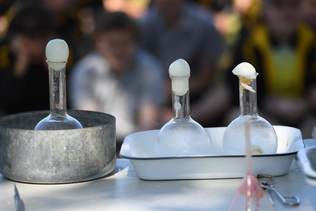 Rivers Secondary College Lismore High Campus explores science and liquid nitrogen.