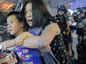 Violence flares again in Hong Kong