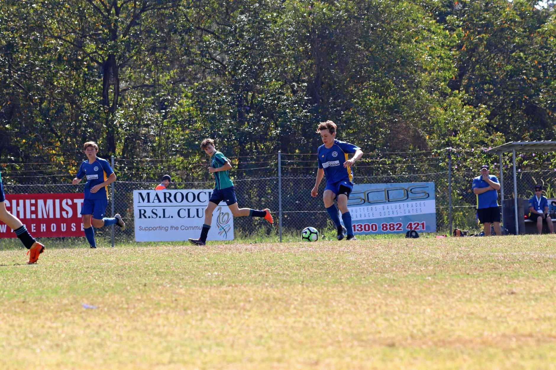 Gympie United Gladiators under-15s  defeat Flinders 2-1 to claim title. Striker/midfielder Jake Millard kicked two goals to get his side over the line.