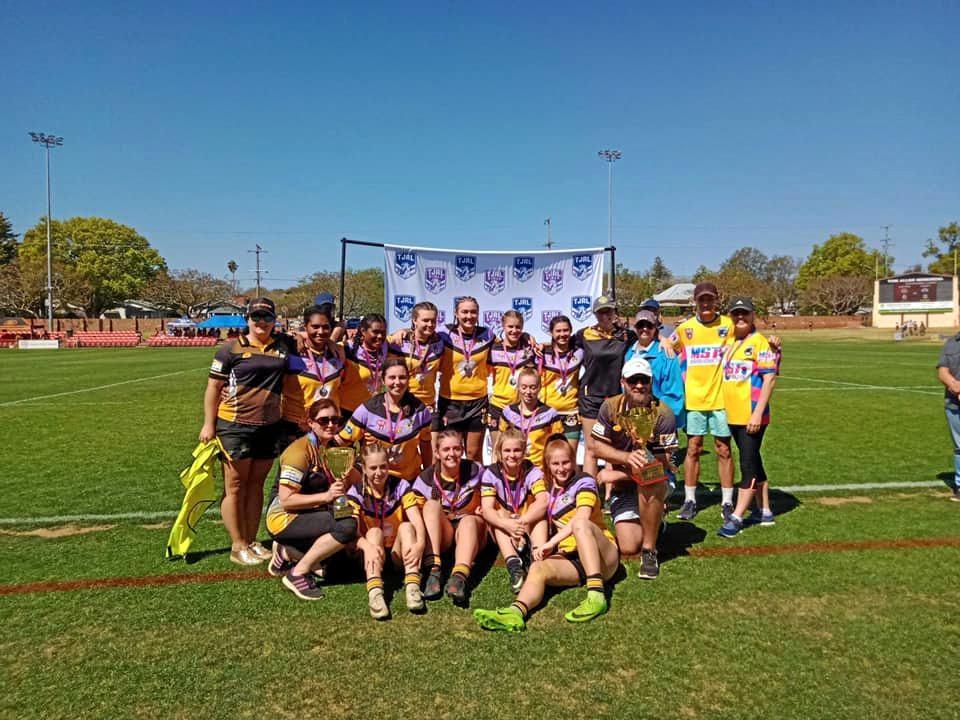 WINNERS: The Gatton Hawks under-17s girls' team after their grand final victory.