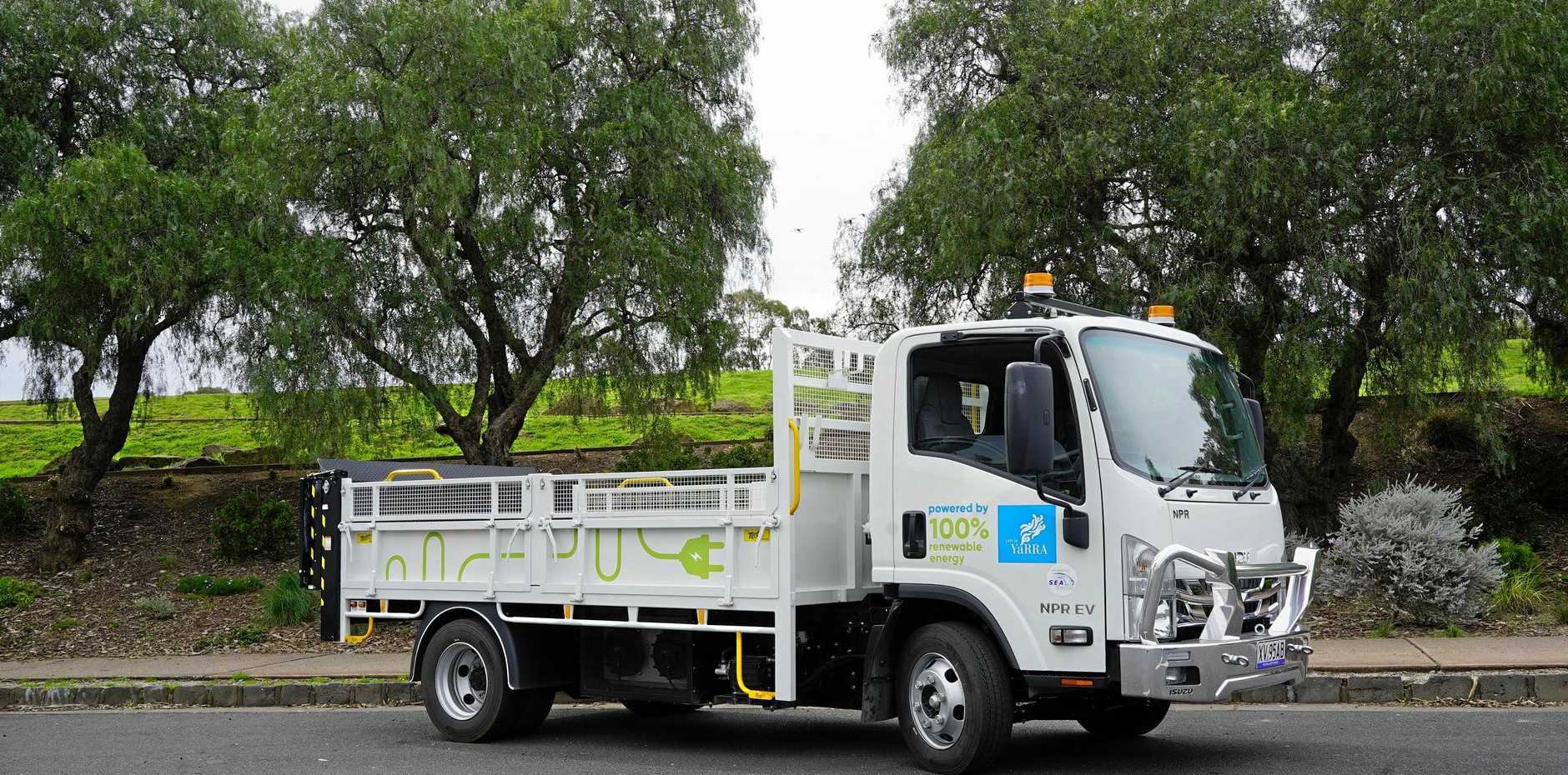 AUSTRALIAN FIRST: The electric tipper will be used five days a week for hard rubbish collections around Yarra streets.