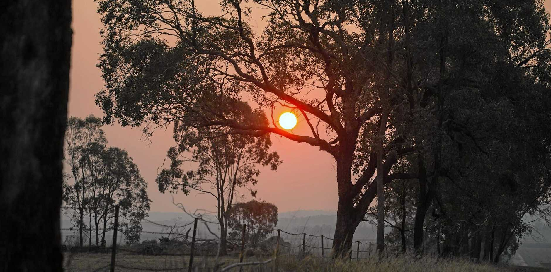 HAZY DAY: Smokey conditions are expected around Noosa as the Teewah bushfire keeps burning.