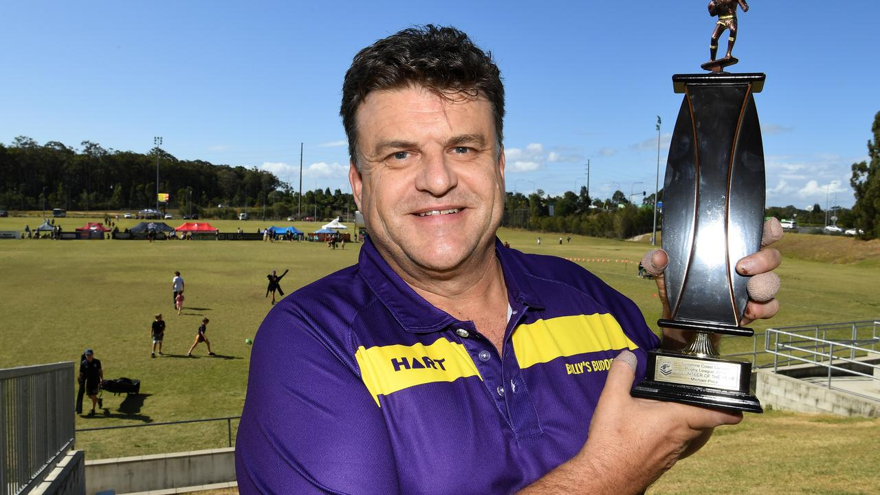 Michael Price has won a volunteer award for his work with the Maroochydore Rugby League. Picture: Warren Lynam