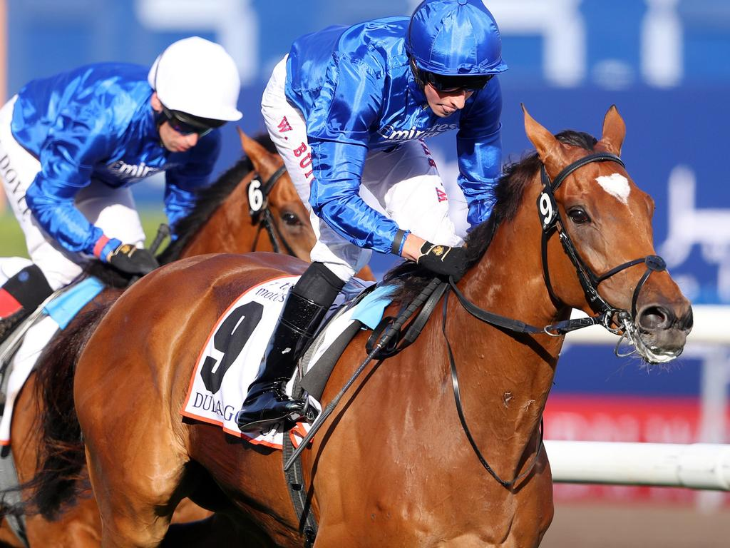 Cross Counter takes out the Dubai Gold Cup at Meydan. Picture: Getty Images