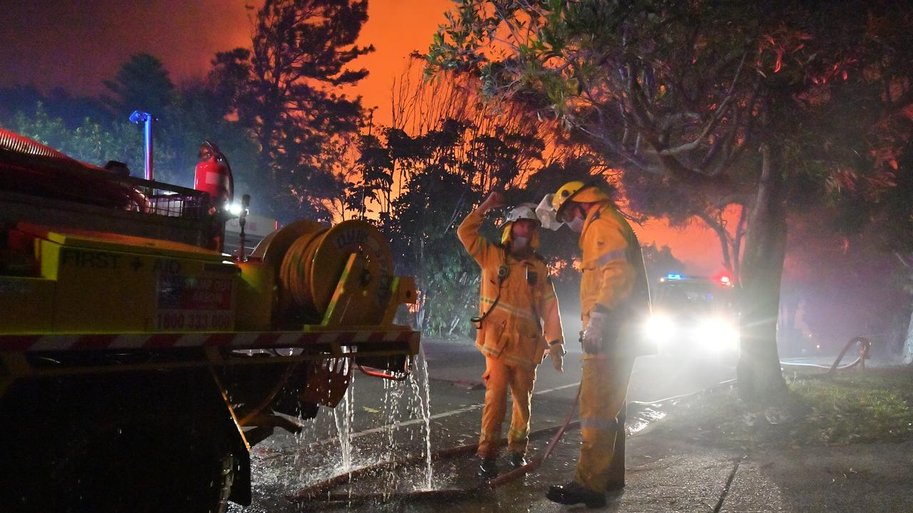 A devastating fire ripped through Peregian Springs, Peregian Breeze and Peregian Beach last week. Above average temperatures and north, north-west winds on Tuesday will push the Sunshine Coast back into a very high fire danger rating. Photo: John McCutcheon