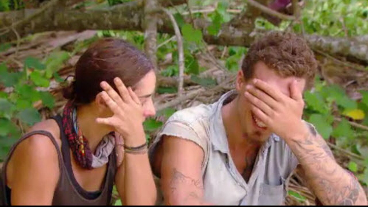 Pia and Luke broke down in tears as they discussed his limited options. Picture: Channel 10.