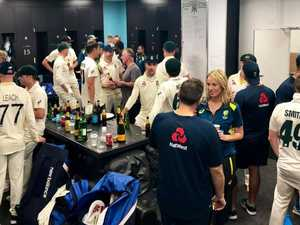 Classy scenes from Ashes dressing room