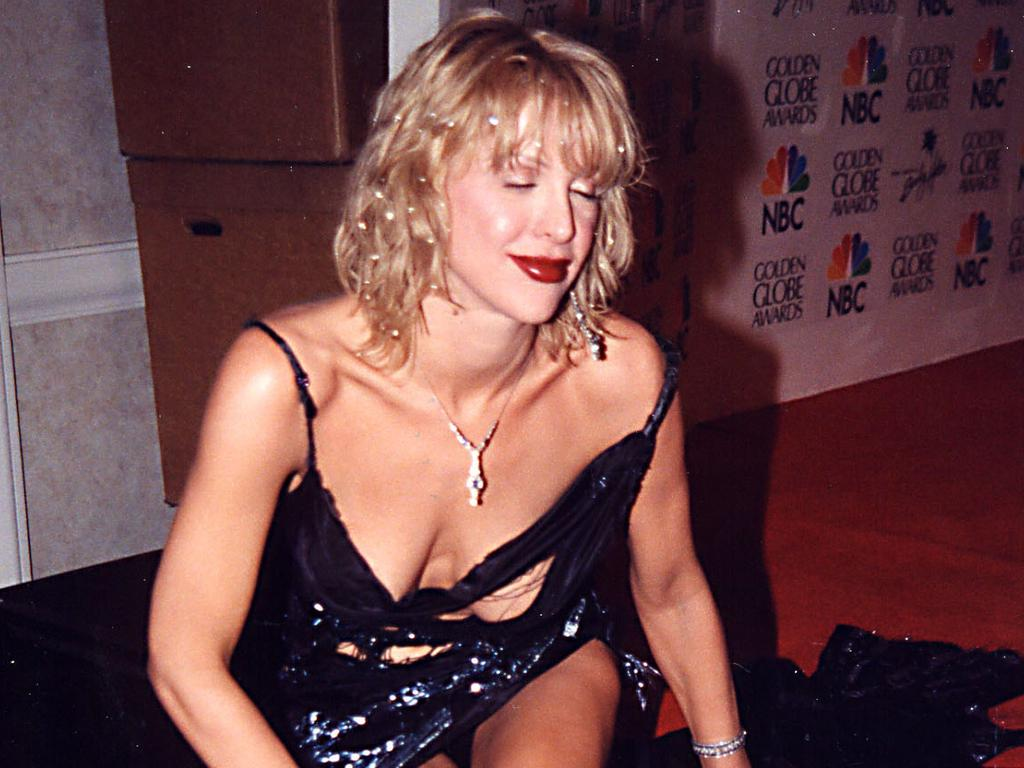 Courtney Love during 2000 Golden Globe Awards at Beverly Hilton Hotel in Beverly Hills, California, United States. Picture: Jeff Kravitz/FilmMagic, Inc.