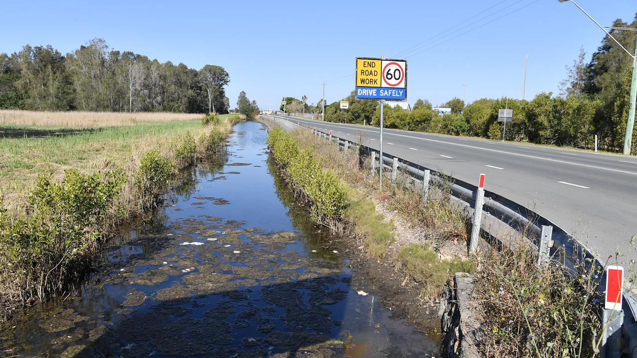 Ex-truckie Neil Hamilton is concerned about the future of Bli Bli bridge, and the drainage along David Low Way. Photo Patrick Woods / Sunshine Coast Daily.