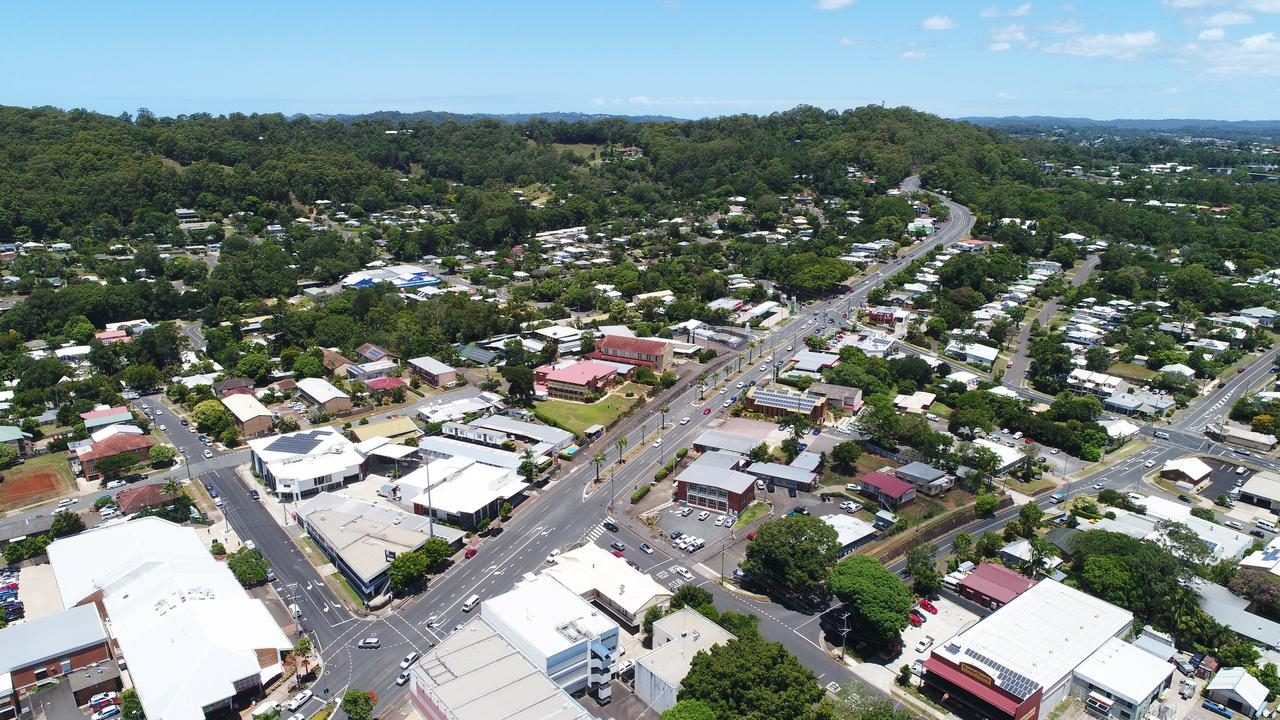 REIMAGINE NAMBOUR: The Sunshine Coast's former sugarcane capital is gearing up for a major revival as passionate locals collaborate for the Reimagine Nambour project Drone footage shows Currie Steet, Mill Lane, Civic Centre, Nambour.