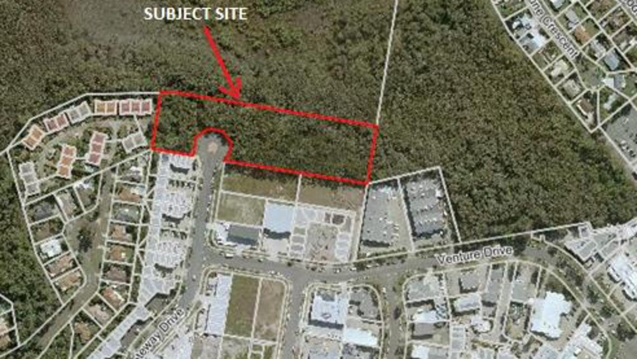 The Gateway Dr site of the proposed industrial and living unit complex in Noosaville